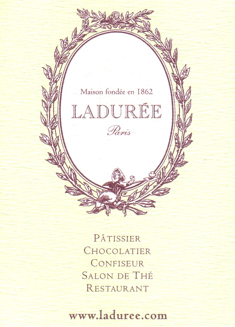 Laduree business card