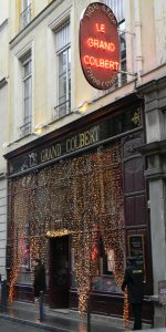 Le Grand Colbert all decorated for Xmas