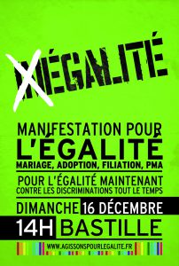 French gay rights protest flier