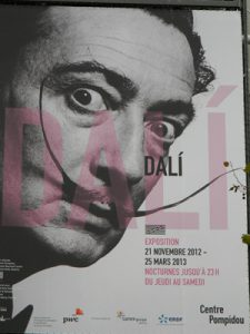 Dali exhibit at the Pompidou Center