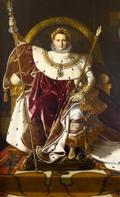 Ingres, Napoleon on the throne